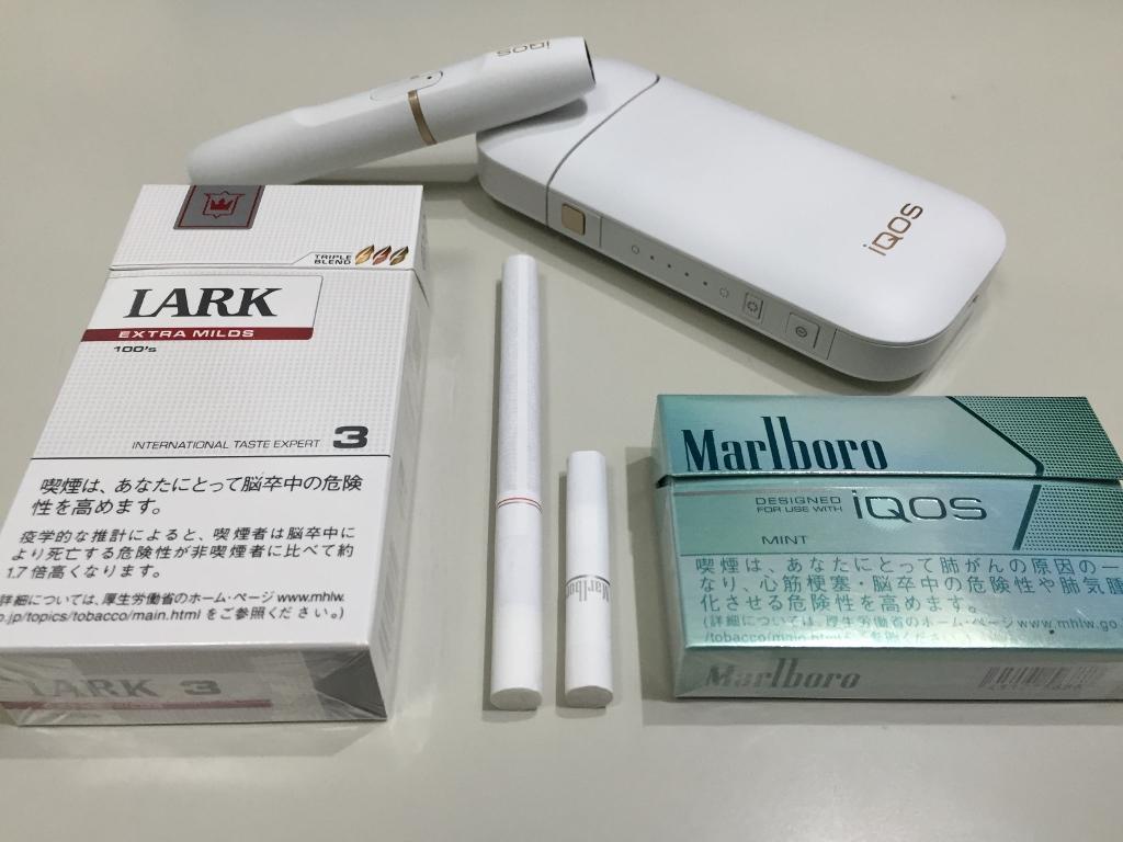 アイコスと通常のたばこ